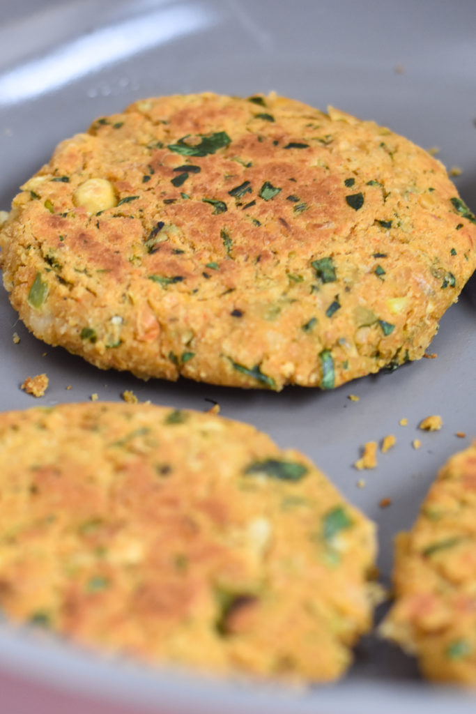 Unlike store-bought veggie burgers, these Vegan Chickpea Burgers are made with fresh parsley and fresh lemon juice adds a nice brightness.