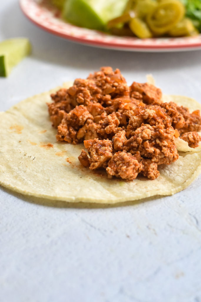 Looking for a new taco recipe for taco night? These Easy Tofu Tacos are perfect if you're looking for an easy meatless taco recipe.