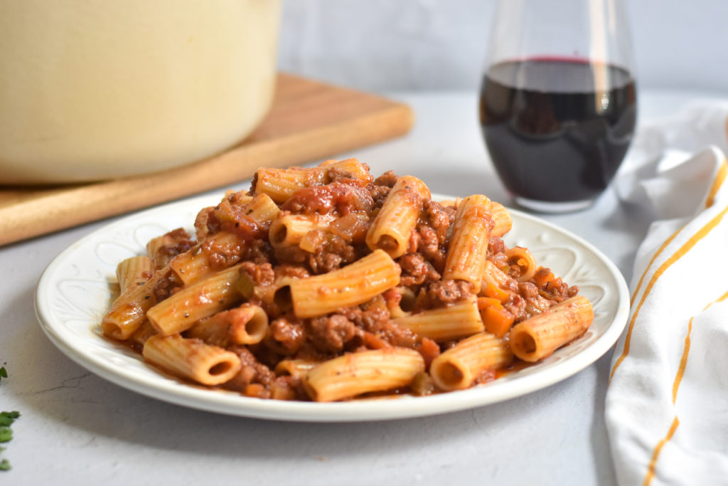 Hearty, comforting and spicy—this spicy sausage vegan pasta is perfect for pasta night.