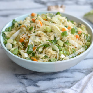 Adding cabbage to fried rice is a great way to eat more vegetables