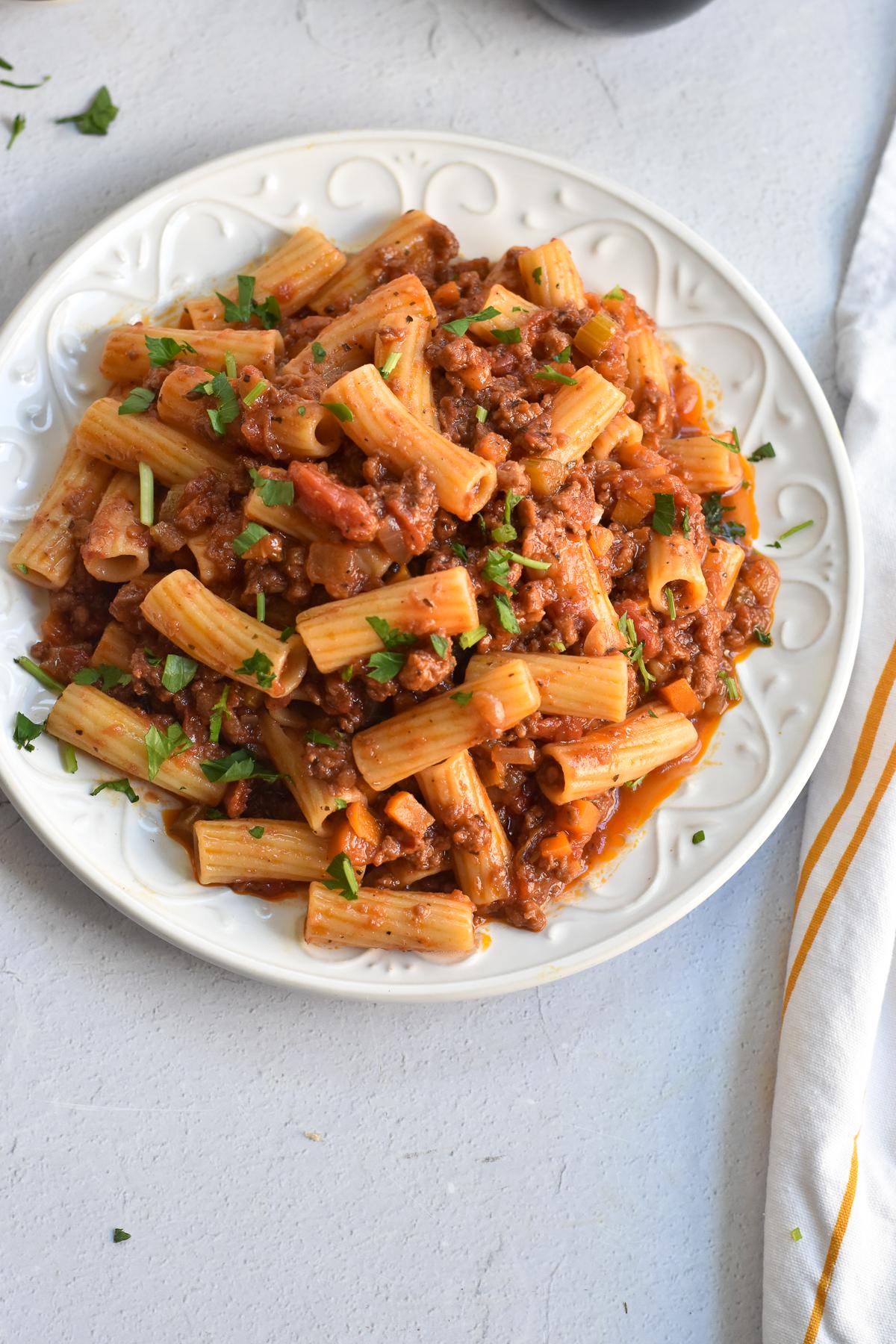 Spicy Vegan Sausage Pasta