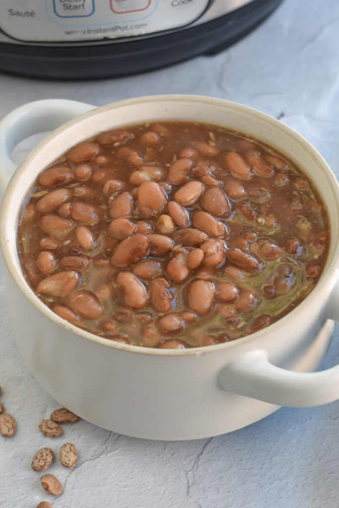 Instead of having to wait a few hours for dried beans to cook, use the Instant Pot to make a batch of Instant Pot Frijoles de Olla.